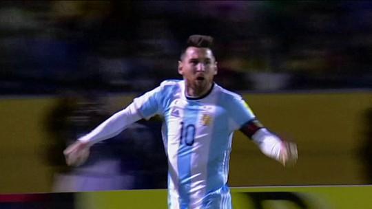 Comentaristas falam da importância de Messi para a Argentina