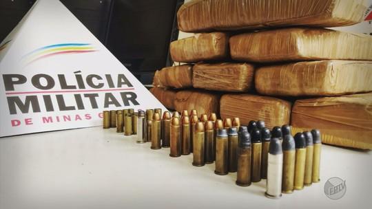 Operação contra o tráfico de drogas apreende 7 Kg de maconha e munições em Andradas, MG