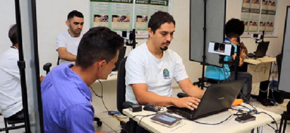 Segundo cronograma elaborado pelo Tribunal Regional Eleitoral do Ceará, nas Eleições de 2018, 129 dos 184 municípios cearenses terão 100% dos seus eleitores votando com biometria.  (Foto: TRE-CE)