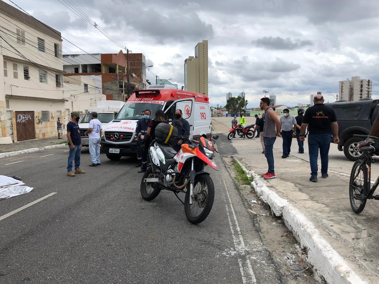 Idoso morre após ser atropelado por caminhão, no Centro de Campina Grande