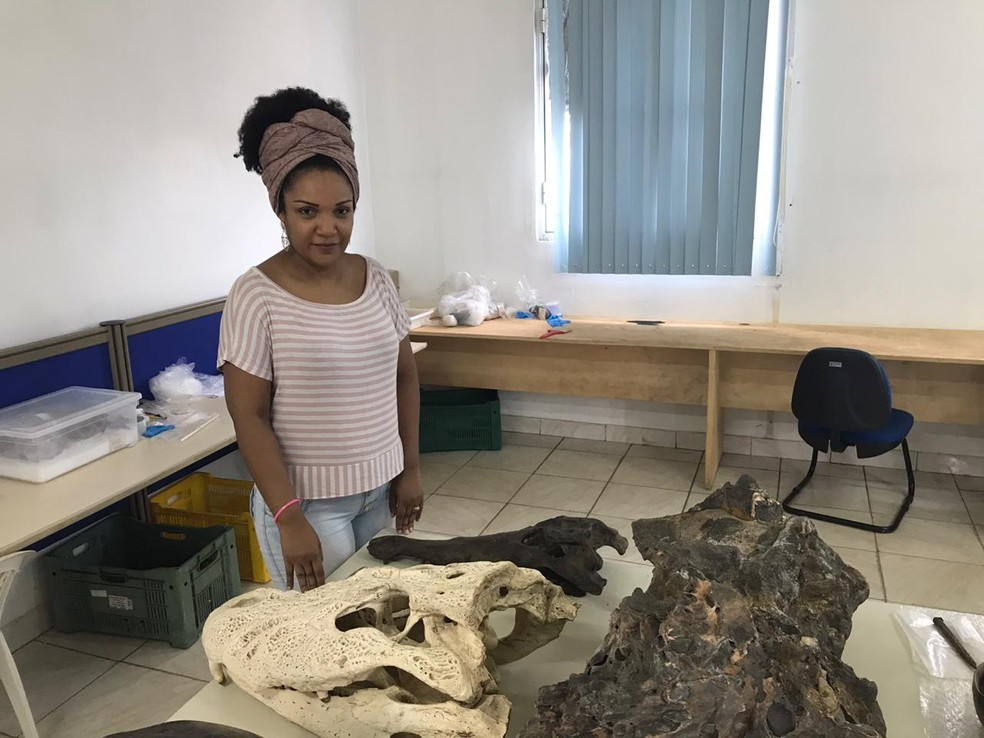 Ednair Nascimento no Museu da Memória Rondoniense, em Porto Velho — Foto: Ana Kézia Gomes/G1
