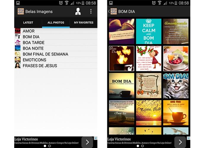 Selecione imagens criativas para mandar para seu namorado com app gratuito (Foto: Reprodução/Barbara Mannara)