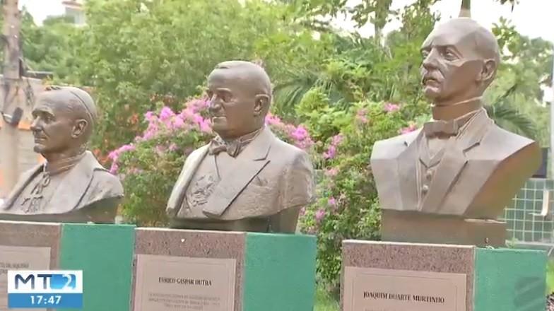Bustos de personalidades são furtados de praças públicas em Cuiabá
