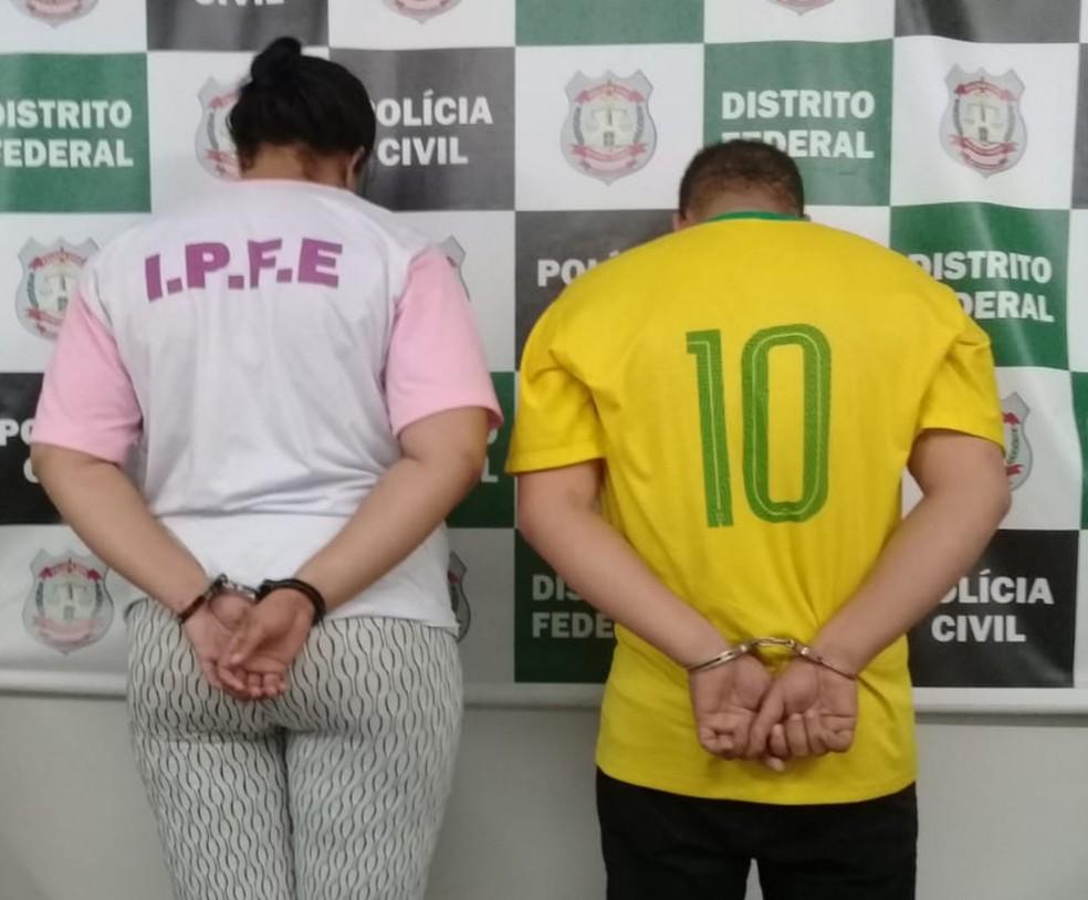 Casal é preso suspeito de matar filhos com injeção de insulina no DF — Foto: Polícia Civil do DF/Divulgação