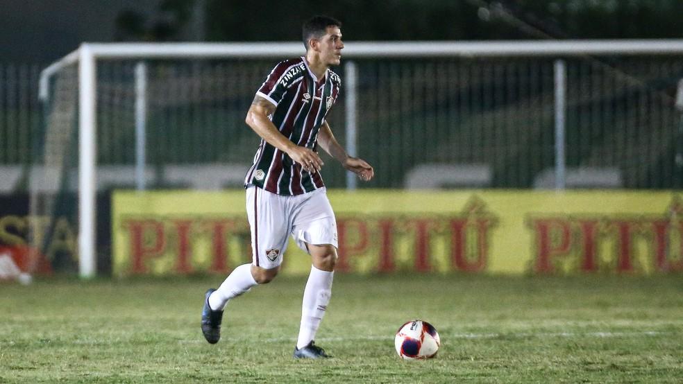Nino, do Fluminense, contra o Boavista — Foto: LUCAS MERÇON / FLUMINENSE F.C.