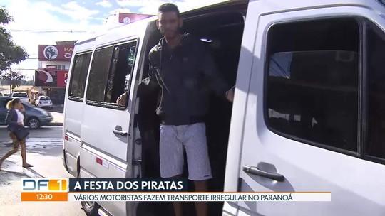 Piratas se multiplicam pelas ruas do Paranoá