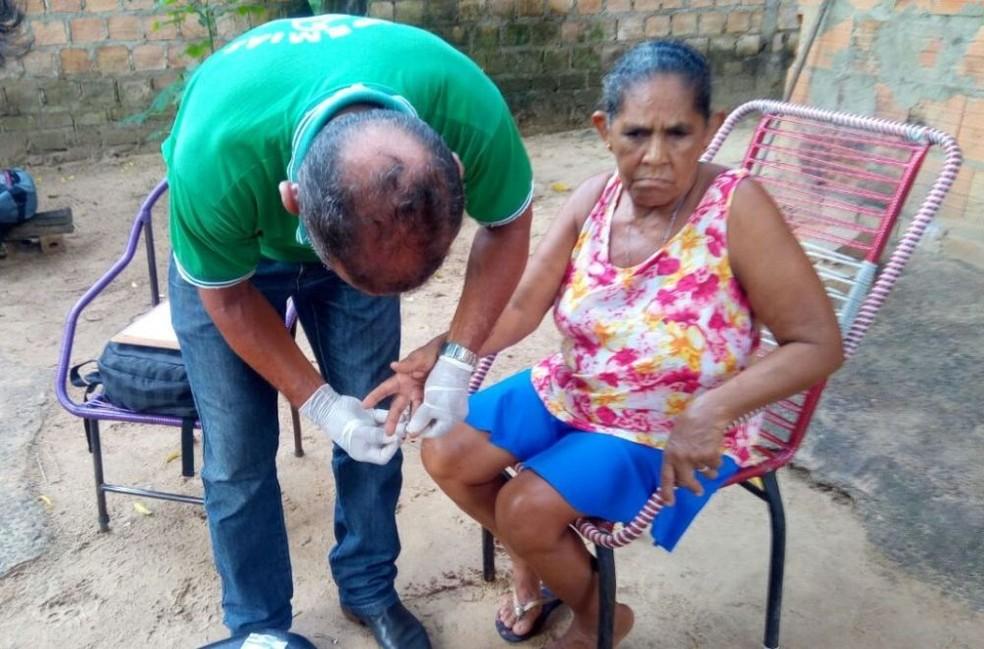 Técnicos fizream 528 exames em casos suspeitos da deonça até dia 17 deste mês (Foto: Divulgação/Sesau)