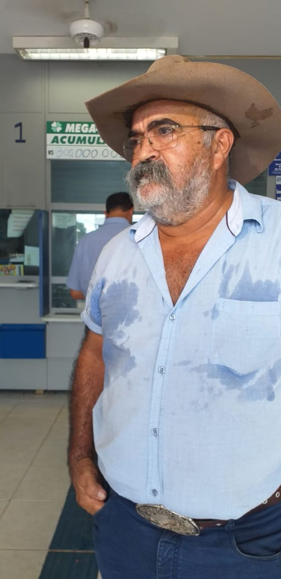 Marcos Nonato Arraes, de 70 anos, é um dos ganhadores da Mega da Virada em Juscimeira (MT) — Foto: Ianara Garcia/TV Centro América
