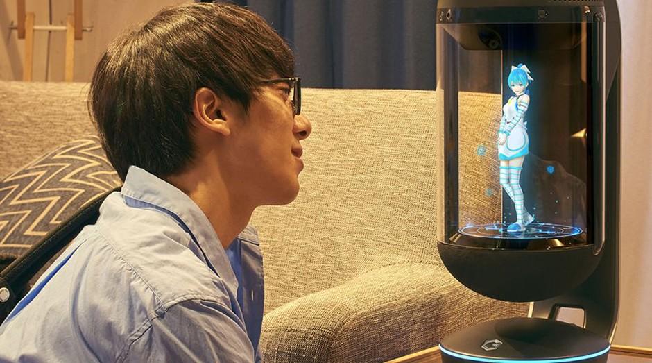 """A """"namorada holográfica"""" desenvolvida por empresa japonesa (Foto: Divulgação)"""