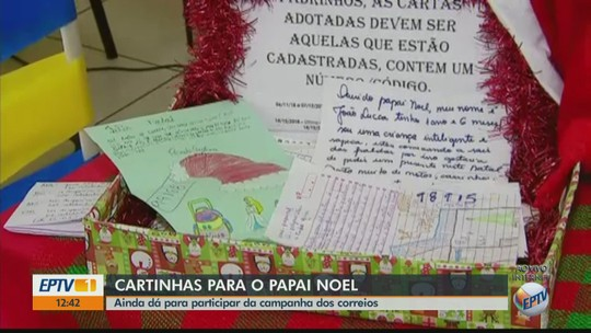 Correios da região têm 2.025 de cartinhas para o Papai Noel; campanha vai até dia 14