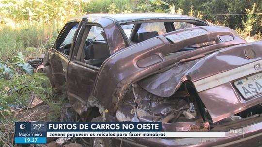 Carros furtados em Caibi eram usados para manobras perigosas e depois abandonados, diz polícia