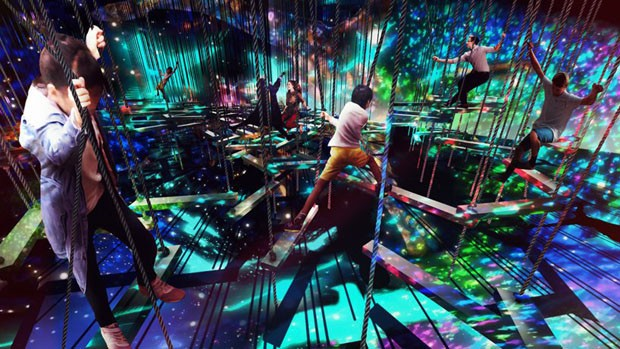 Novo museu de arte digital de Tóquio terá obras que reagem ao visitante (Foto: Divulgação)