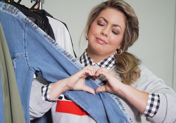 Fluvia Lacerda mostra como gosta de usar jeans (Foto: Reprodução)