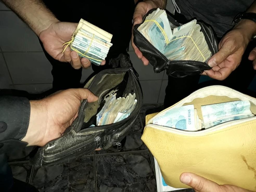 Operação Sal da Terra apreendeu mais de R$ 100 mil — Foto: Polícia Civil do RN/Divulgação