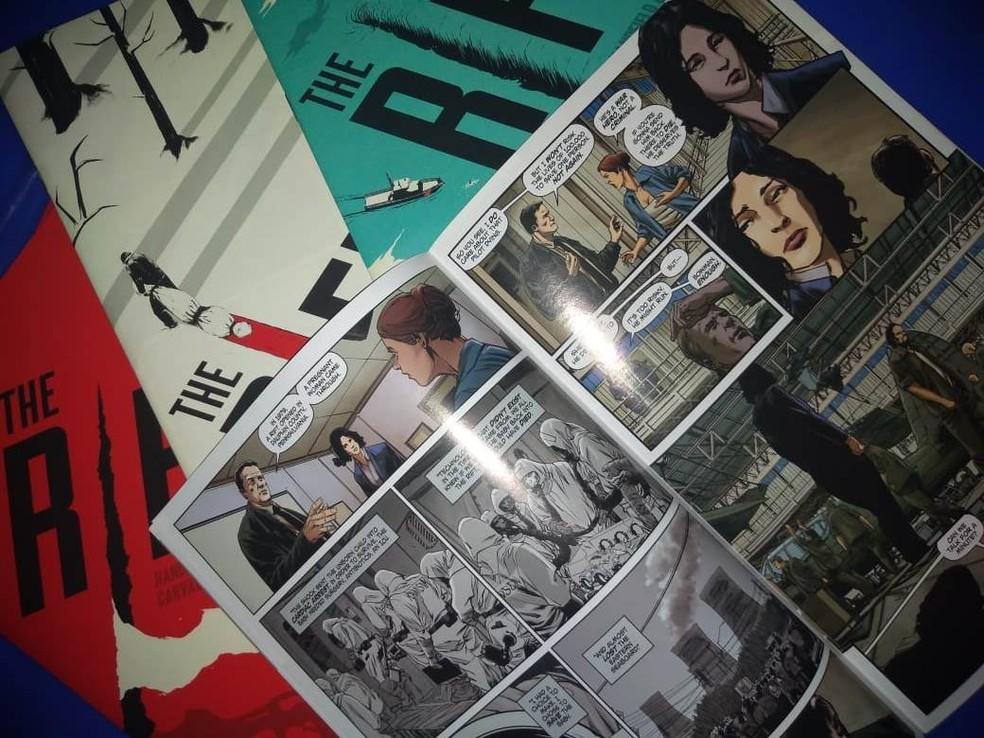 The Rift, desenhada por Leno Carvalho e escrita por Dan Handfield e Richard Rayner, vai virar episódio de série de Steven Spielberg — Foto: Arquivo Pessoal