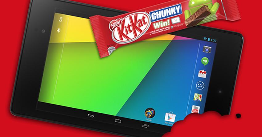 Kitkat vai sortear mil tablets Nexus 7 no Brasil, em parceria com Google