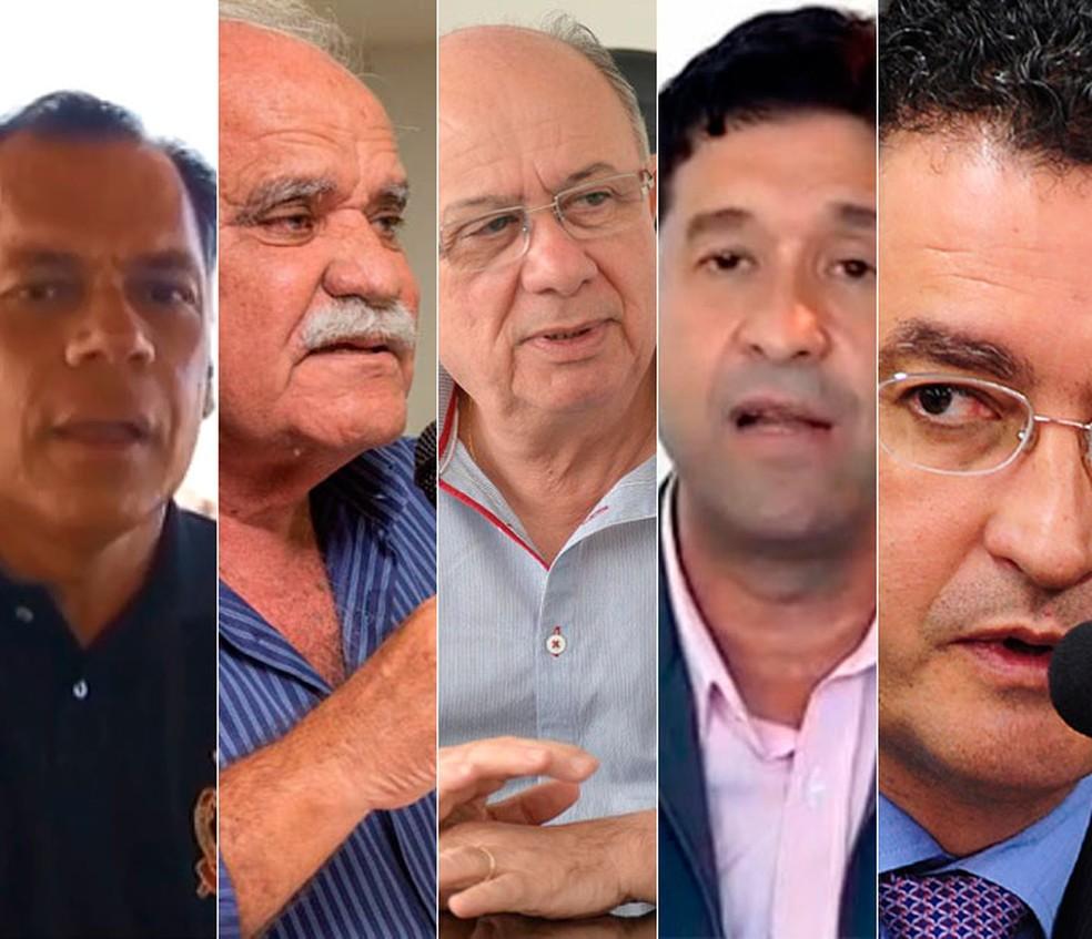 Pré-candidatos ao governo da Bahia (Foto: Arte/G1)