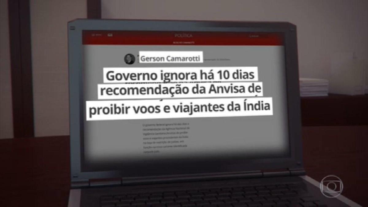 Governo decide proibir voos da Índia por causa de variante do coronavírus