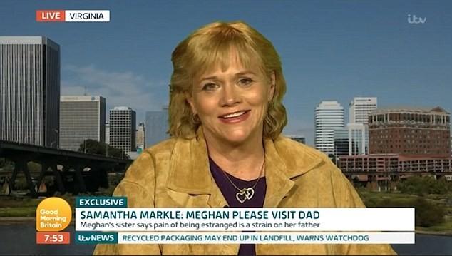 Samantha Markle em programa de televisão americano (Foto: Reprodução)