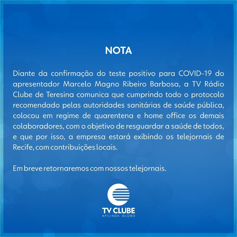 Nota TV Clube. — Foto: Divulgação