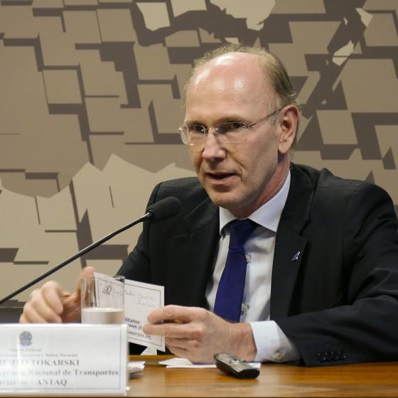 O diretor-geral da Agência Nacional de Transportes Aquaviários (Antaq), Adalberto Tokarski (Foto: Roque Sá/Agência Senado)