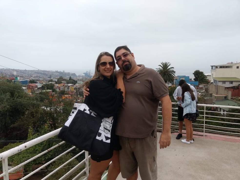O casal José Dias Palitot Júnior e Katianne Cristina Palitot. — Foto: Acervo pessoal