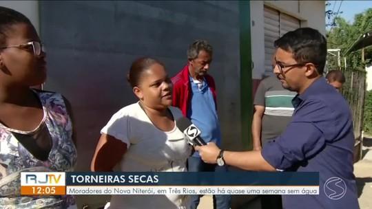Moradores do Nova Niterói, em Três Rios, estão há quase uma semana sem água