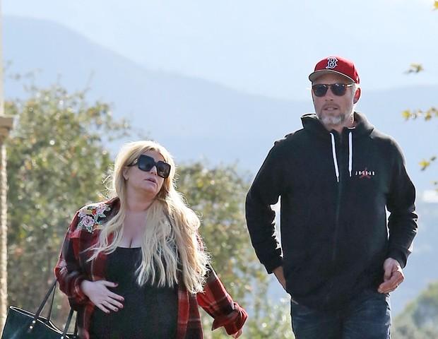 Jessica Simpson e marido (Foto: The Grosby Group)