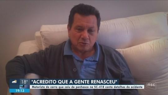 'Acredito que a gente renasceu', diz motorista que sobreviveu a acidente na Serra Dona Francisca