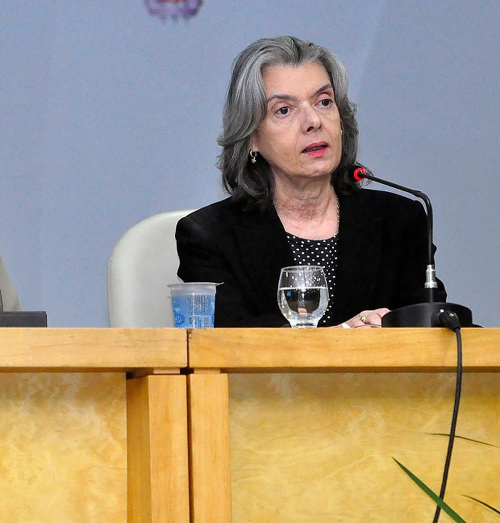 Ministra Cármen Lúcia participou de evento sobre a Lei Maria da Penha  (Foto: Nei Pinto/Ascom/TJBA)