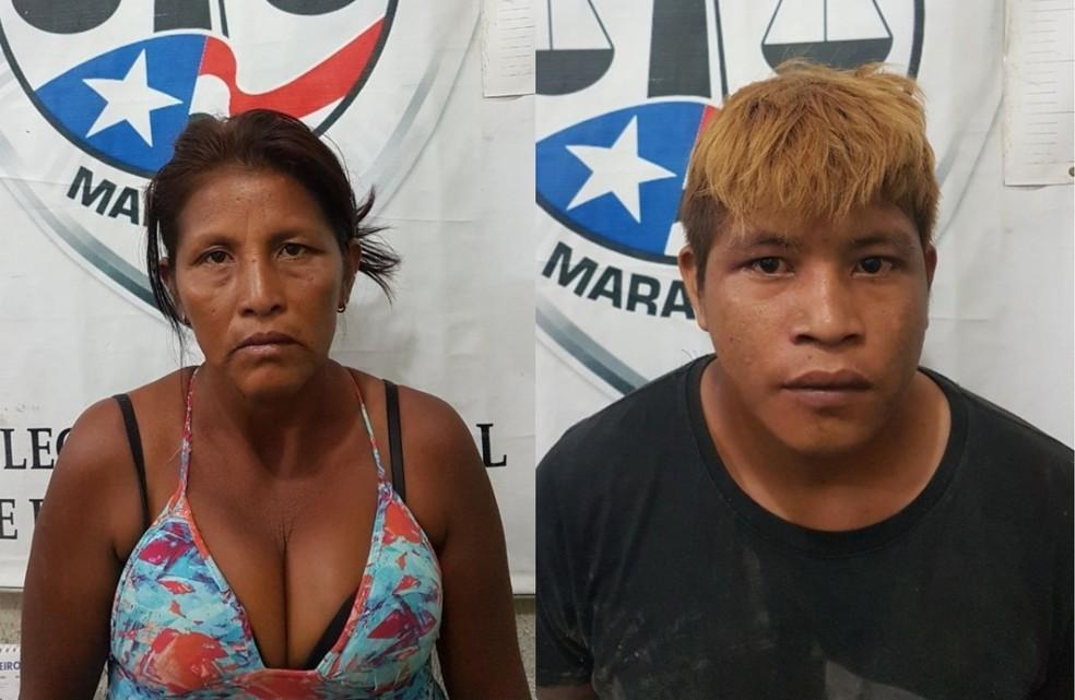 Neusina Ferreira Guajajara e Hilson Ventura Guajajara foram presos e faziam parte de uma quadrilha de assaltantes, segundo a Polícia (Foto: Divulgação/Polícia Civil)