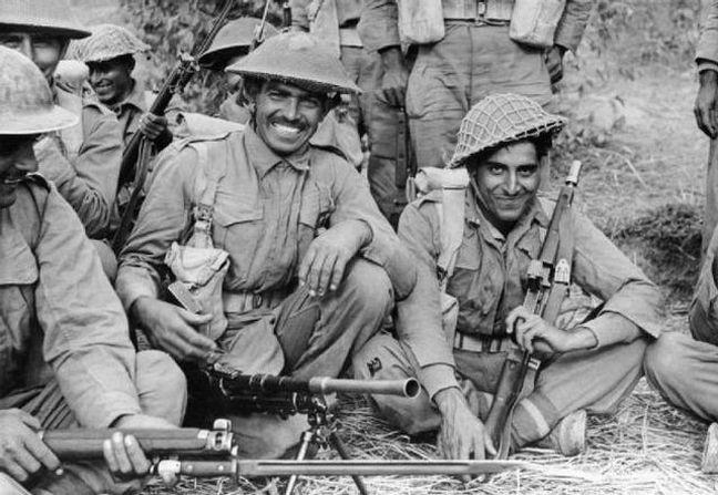 A recuperação de Myanmar pelo XIV Exército, formado por britânicos, indianos e africanos, foi considerada o ponto de virada dos Aliados na II Guerra Mundial. 30 soldados indianos ganharam a Victoria Cross, a mais alta medalha de honra britânica (Foto: Arquivo)