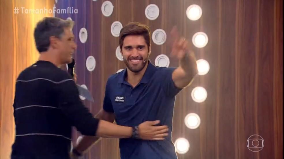 Bruno, sobrinho de Tadeu Schmidt — Foto: Globo