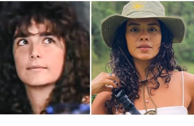 Muda, apelido de Maria Ruth, foi vivida por Andréa Richa. A novata Bella Campos viverá o papel na nova versão da obra (Foto: Reprodução)