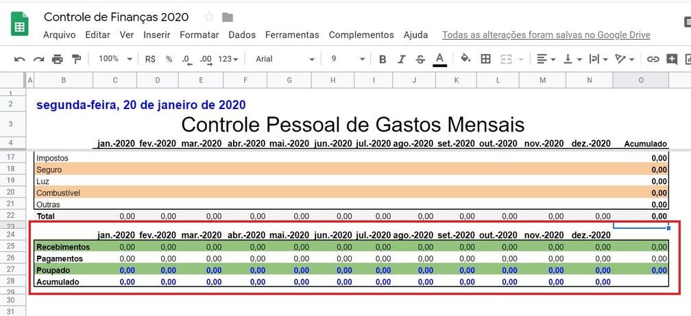 As linhas podem ser personalizadas alterando a sua cor de fundo para melhorar a apresentação dos dados — Foto: Reprodução/G1