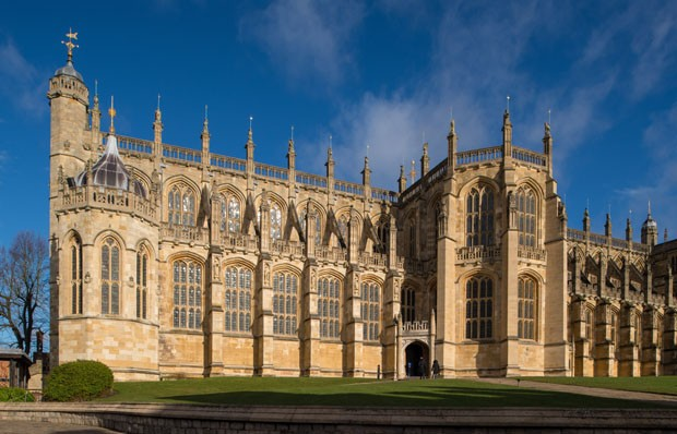WINDSOR, UNITED KINGDOM - FEBRUARY 11: A view of St George's Chapel at Windsor Castle, where Prince Harry and Meghan Markle will have their wedding service, February 11, 2018 in Windsor, England. The Service will begin at 1200, Saturday, May 19 2018. The  (Foto: Getty Images)