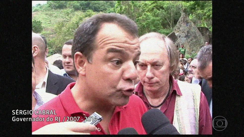 E-governador Sérgio Cabral (Foto: Reprodução/Acervo/Globo)