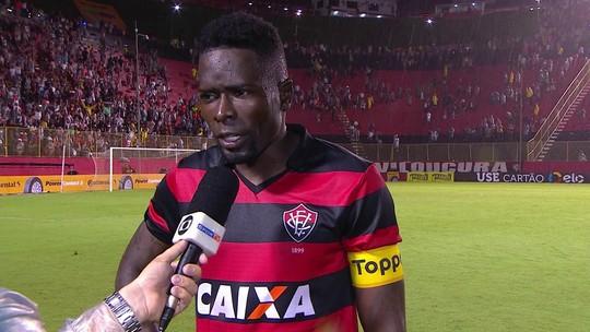 Kanu elogia goleiro Caíque e comemora classificação do Vitória