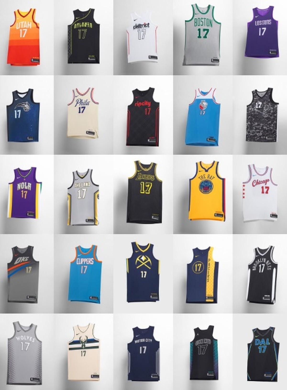 57461e4c55 NBA lança camisas em homenagem às cidades dos times  veja todos os modelos