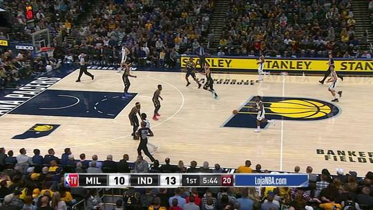 Melhores momentos:Indiana Pacers 83 x 102 Milwaukee Bucks pela NBA