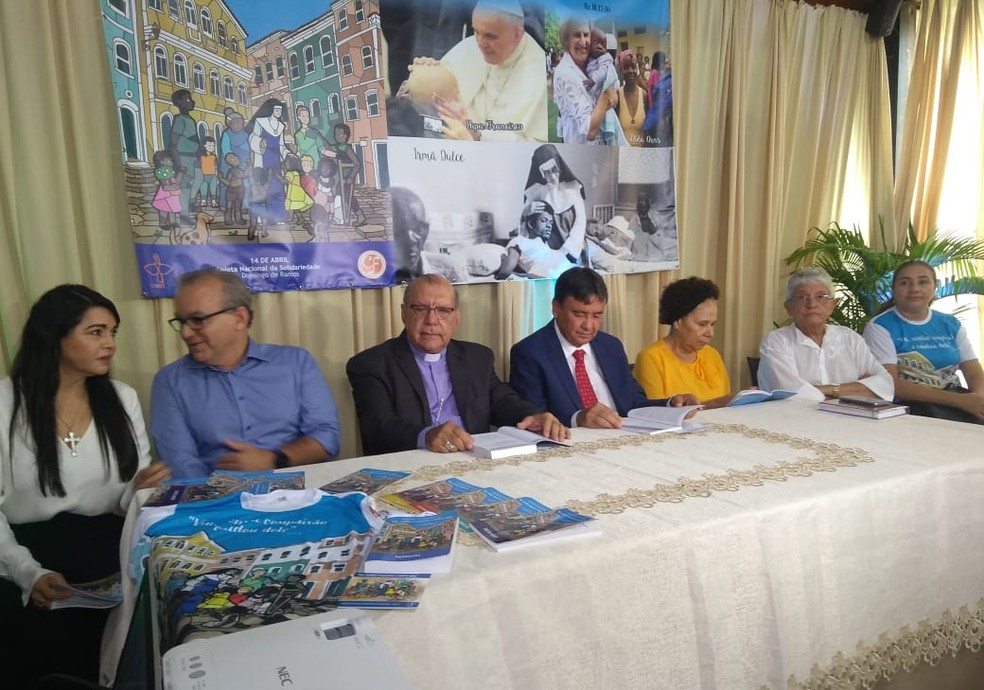 Autoridades religiosas e políticas participam do lançamento da Campanha da Fraternidade 2020 em Teresina — Foto: Marcos Teixeira / TV Clube