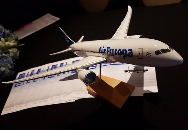 Modelo de avião da empresa Air Europa (Foto: Reprodução/Facebook)