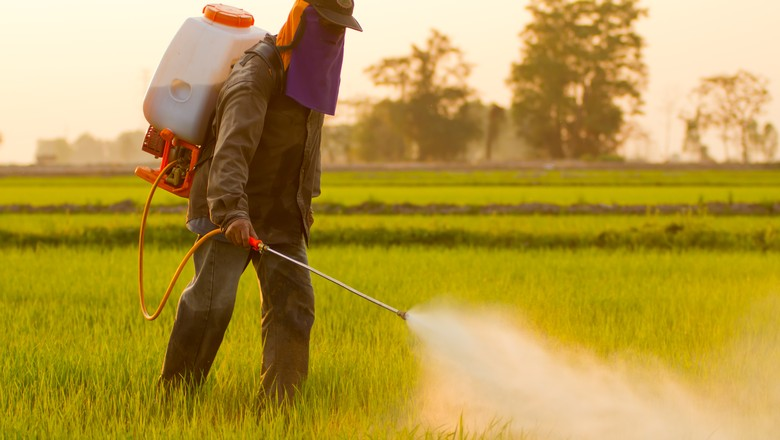 defensivo-insumo-pulverizacao-pulverizador-agrotoxico-aplicacao-herbicida-inseticida-praga (Foto: Thinkstock)