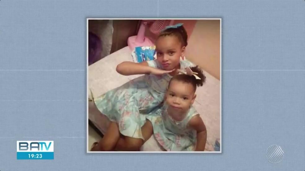 Meninas morreram com intervalo de uma semana — Foto: Reprodução/TV Bahia