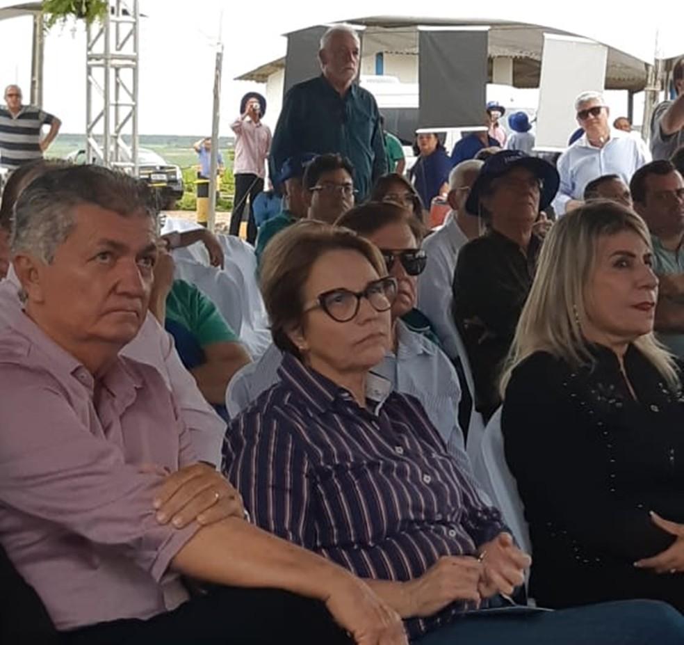 Tereza Cristina visitou a cidade de Santa Rita, PB, no sábado (16) — Foto: Jocélio Oliveira/Senar-PB