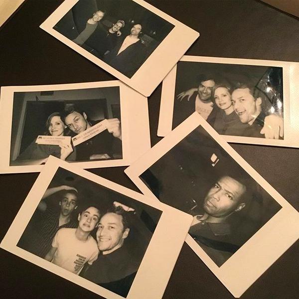 As fotos compartilhadas por James McAvoy mostrando a reunião do elenco da continuação de It: A Coisa (2017)  (Foto: Instagram)