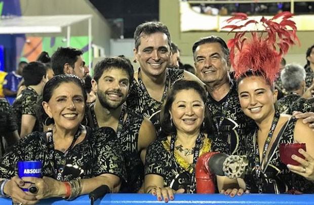 Leda, Duda, Felipe Abreu, Kika, Omar e Sabrina (Foto: Reprodução)