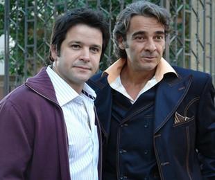Murilo Benício e Alexandre Borges em 'Ti-ti-ti'   Globo