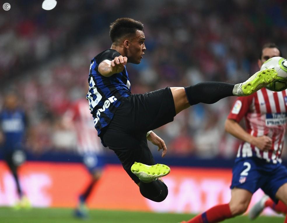 ... Voleiro Lautaro Martínez Inter de Milão x Atlético de Madrid — Foto   Twitter oficial da c348d2265c5ef