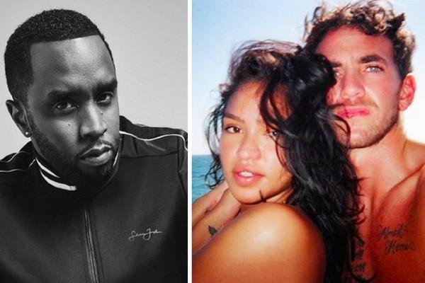 O rapper Diddy e a ex-namorada dela, Cassie, com o novo namorado dela, o personal trainer Alex Fine (Foto: Instagram)